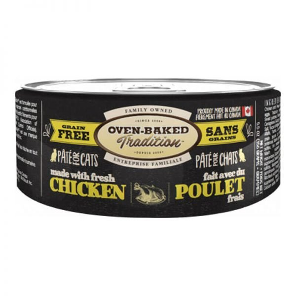Chicken Pate Adult Cat Oven Baked Tradition - 156 GR