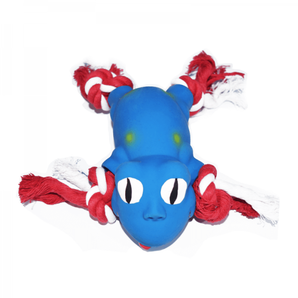 Animal Látex con Cuerda-Azul