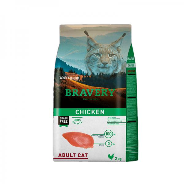 Bravery Pollo Gato Adulto 2kg