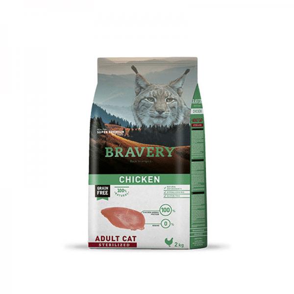 Bravery Pollo Gato Adulto Esterilizado 2kg