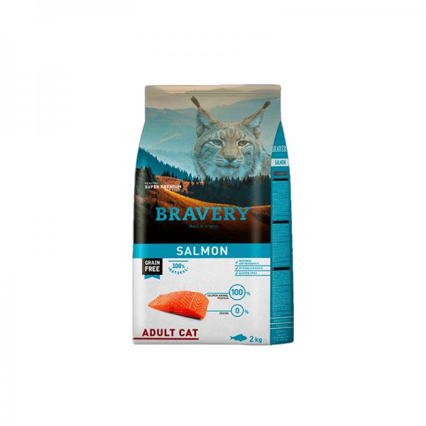Bravery Salmón Gato Adulto 2kg