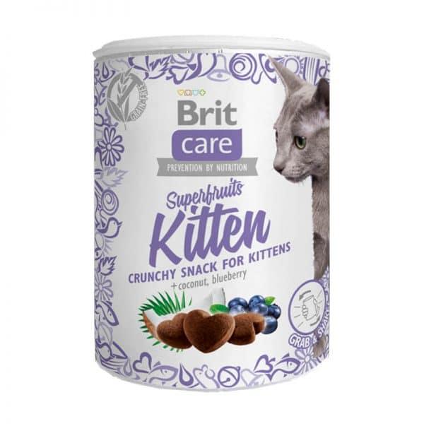 Snack Superfruits Kitten Pollo100g Lata Brit