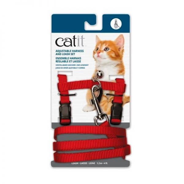Cat It Arnés Con Traílla Para Gato S Rojo