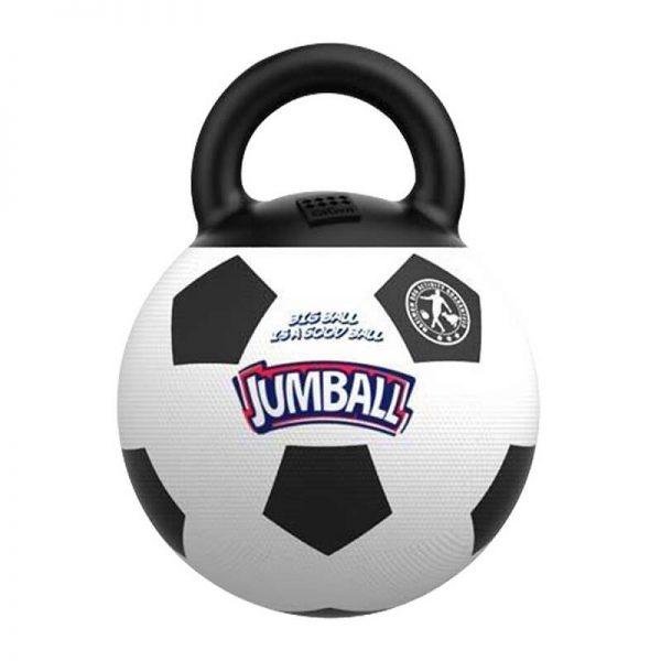 GiGwi Jumball Pelota de futbol con mango de goma