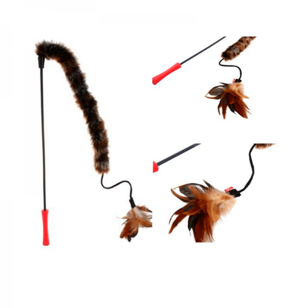 GiGwi Varilla Feather Teaser Cola de Felpa