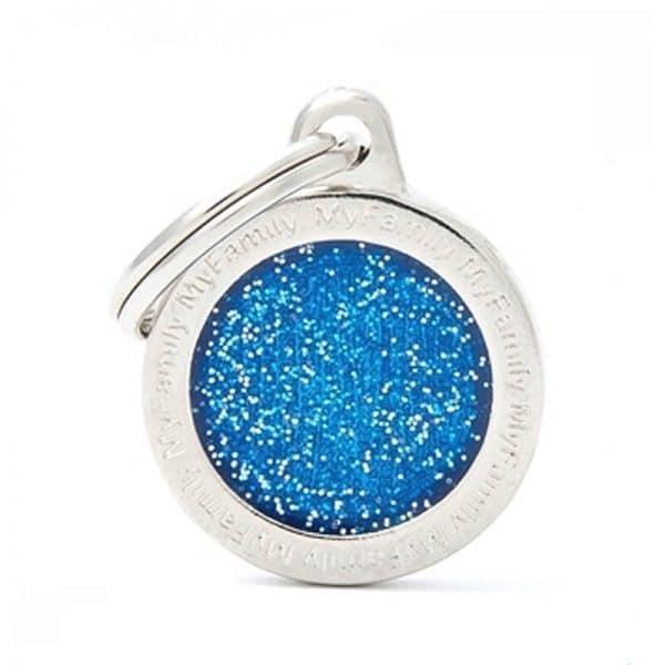 Chapita My Family - Small Circle Glitter Blue
