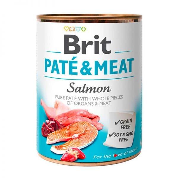 Lata Brit Paté & Meat Salmon 800 gr
