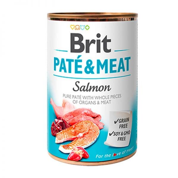 Brit Salmon Paté y Carne 400g