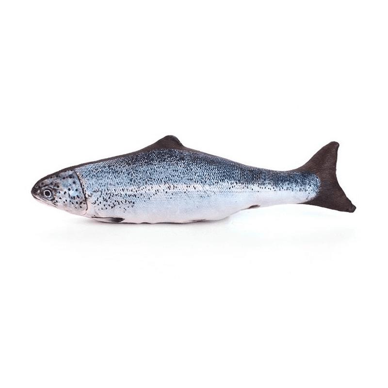 Peluche Pez Carpa Con Catnip - Color Azul/Lila M 30 cm