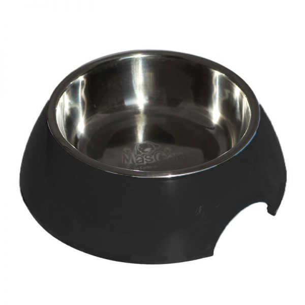 Plato Alimentador Sólido - Negro - L