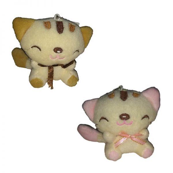Llavero de peluche gatitos con cinta