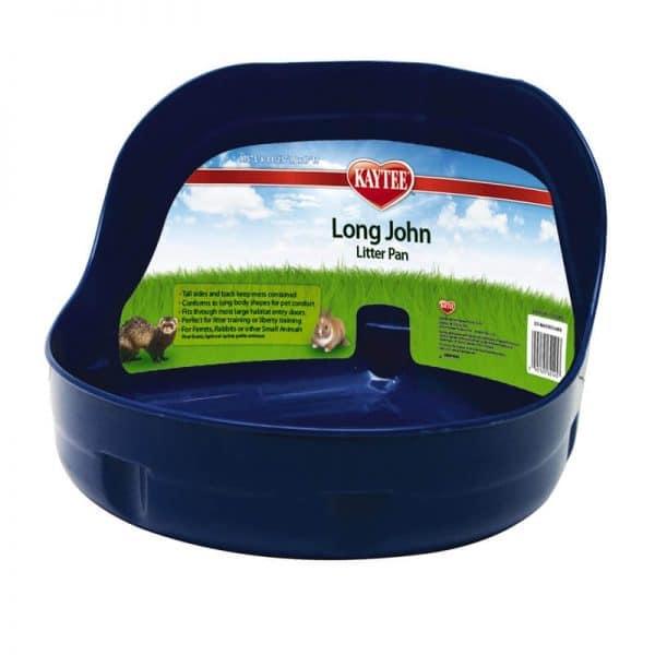 Kaytee Letrina Long John Litter Pan Azul.