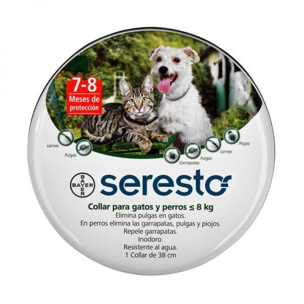 Seresto Collar Antiparasitario Para Perros y Gatos - Menos de 8 Kg