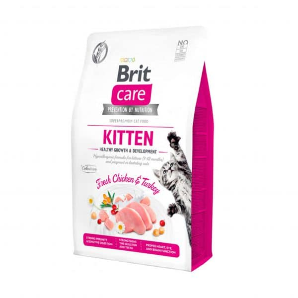 Brit Care Cat Kitten sabor Chicken&Turkey - Grain Free - 7 kg