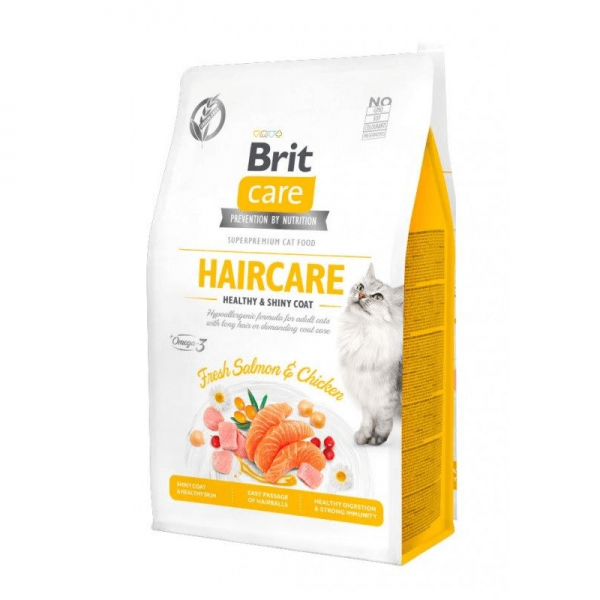 Brit Care Cat Grain-Free Haircare Sabor Salmon&Chicken 2kg
