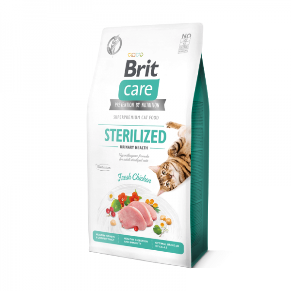 Brit Care Cat Sterilized Urinary Sabor a Chicken 7kg
