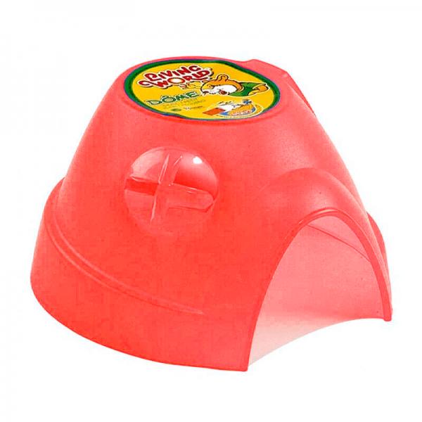Casa iglu rojo para mascotas - S