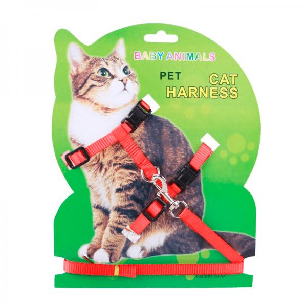 Arnés para gatos Baby Animals Rojo