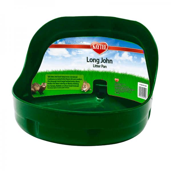 Kaytee Letrina Long John Litter Pan Verde.