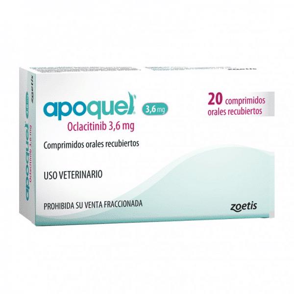 Apoquel 3,6mg Oclacitinib - 20 comprimidos (RECETA REQUERIDA)