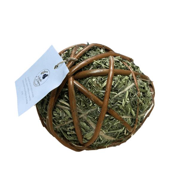 Bola Heno Alfalfa Con Mimbre - La Granjita De Conejino