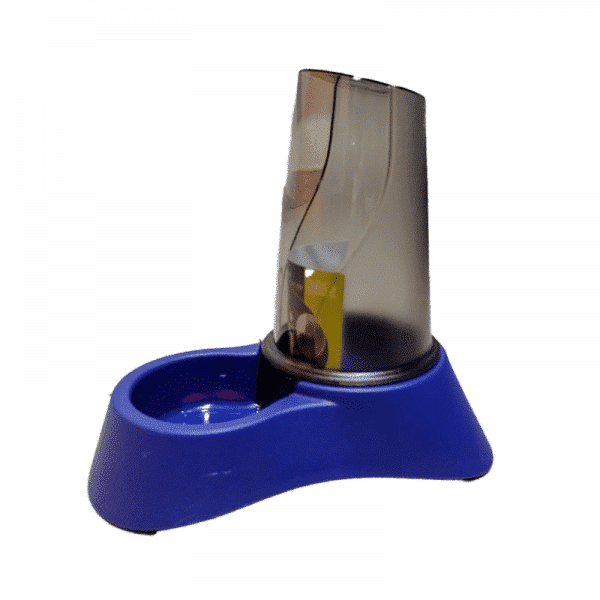 Bebedero Comedero Para Erizo Azul